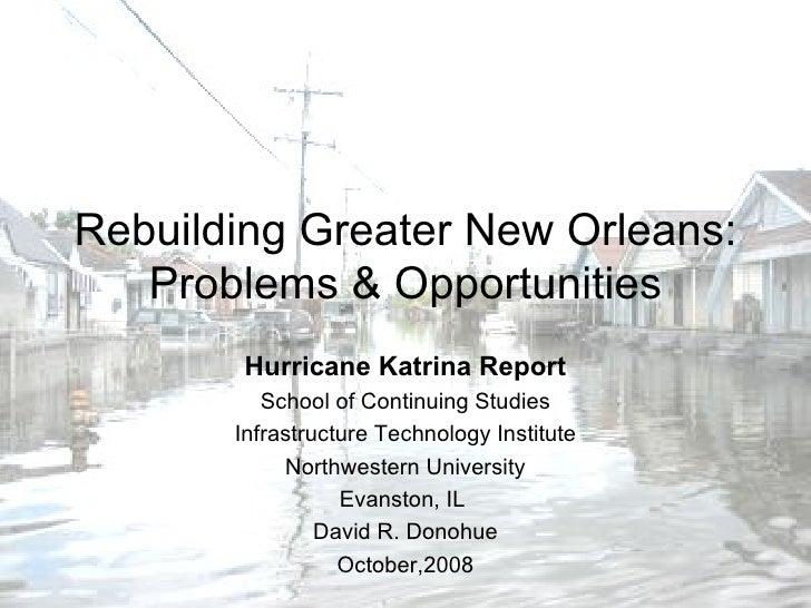NU Hurricane Katrian Seminar 2008