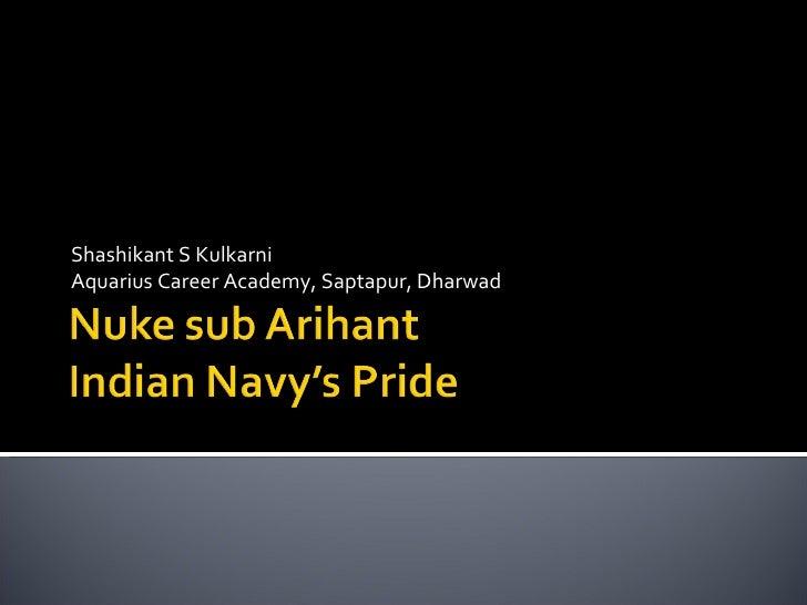 Shashikant S Kulkarni Aquarius Career Academy, Saptapur, Dharwad