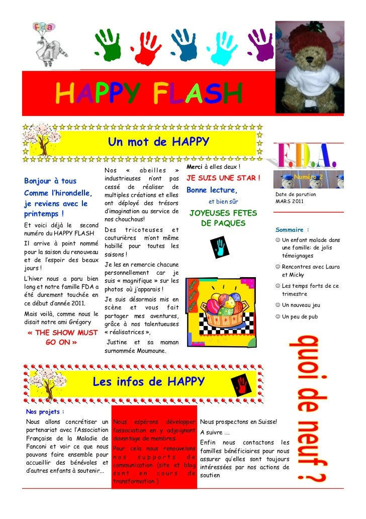 HAPPY FLASH                               Un mot de HAPPY                                                             Merc...