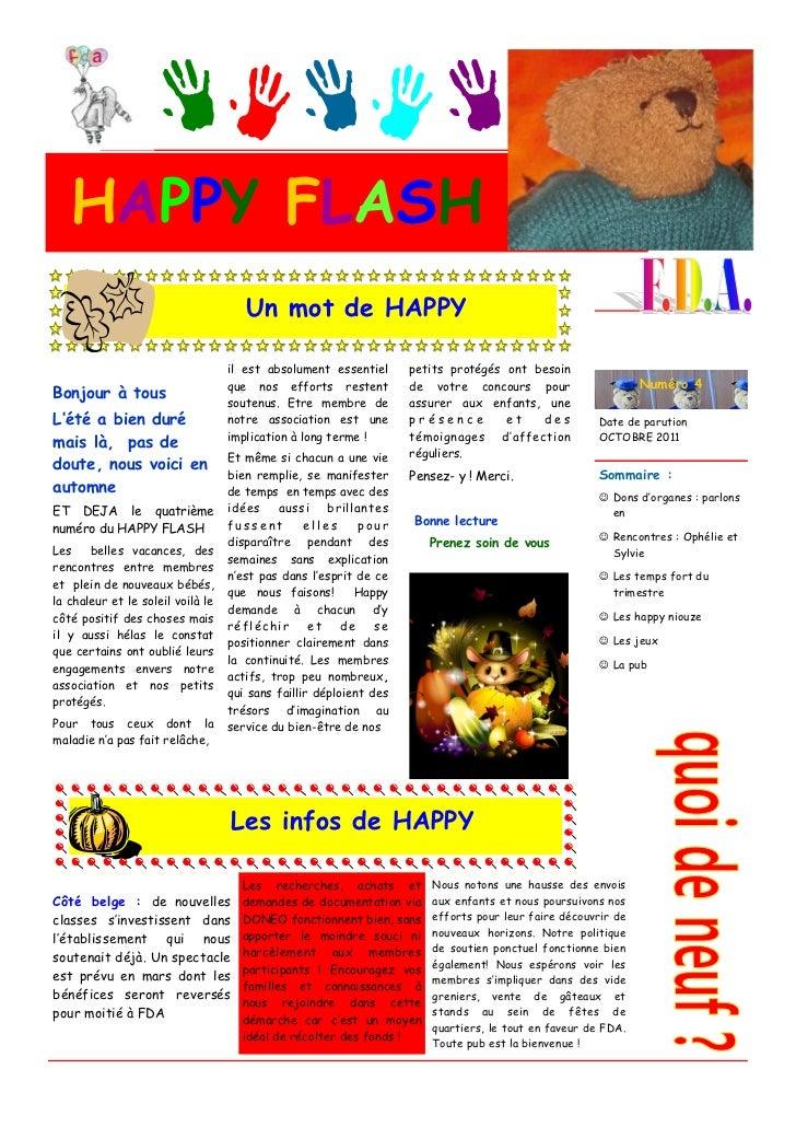 HAPPY FLASH                                      Un mot de HAPPY                                   il est absolument essen...