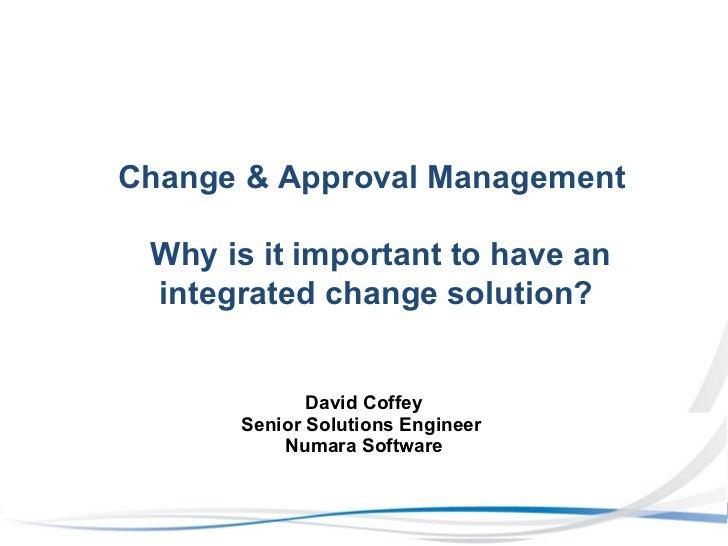 Numara change & approval mgmt