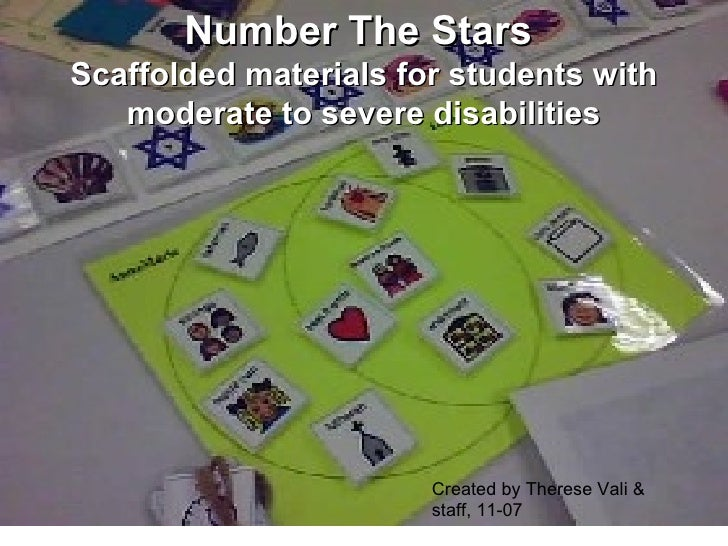 Number The Stars  Scaffolded materials for students with moderate to severe disabilities Created by Therese Vali & staff, ...