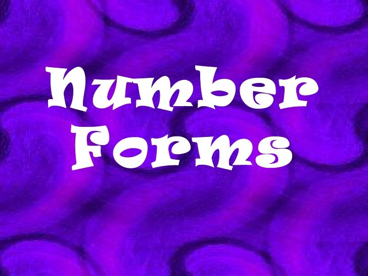 Number Forms