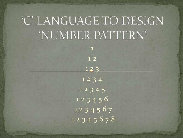 Number pattern using C language
