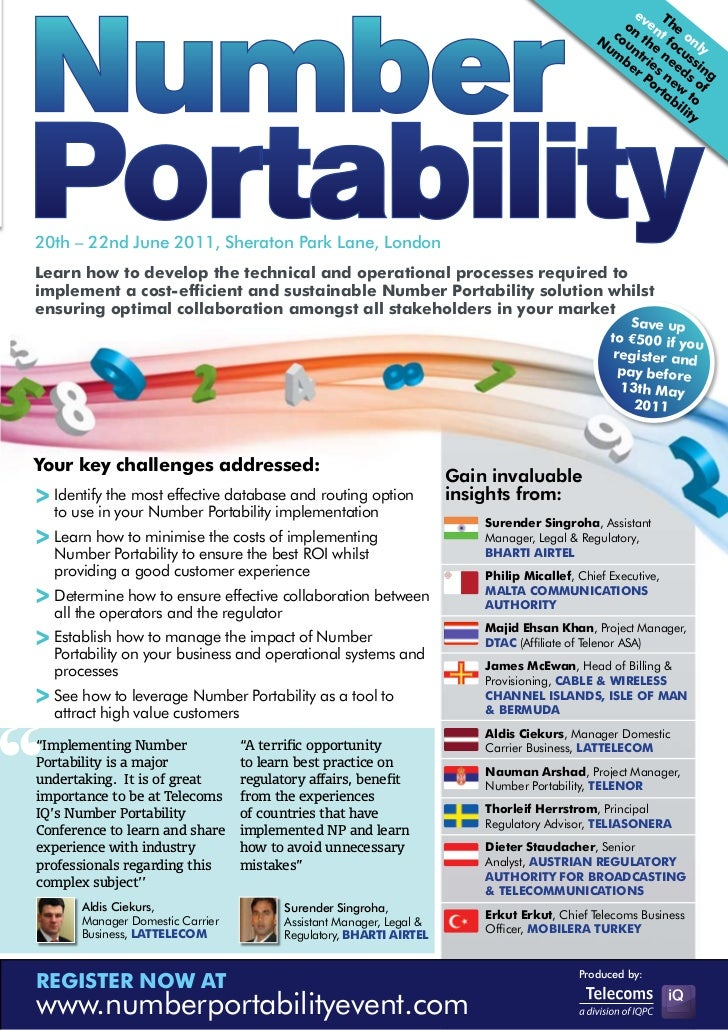 Number portability conference brochure