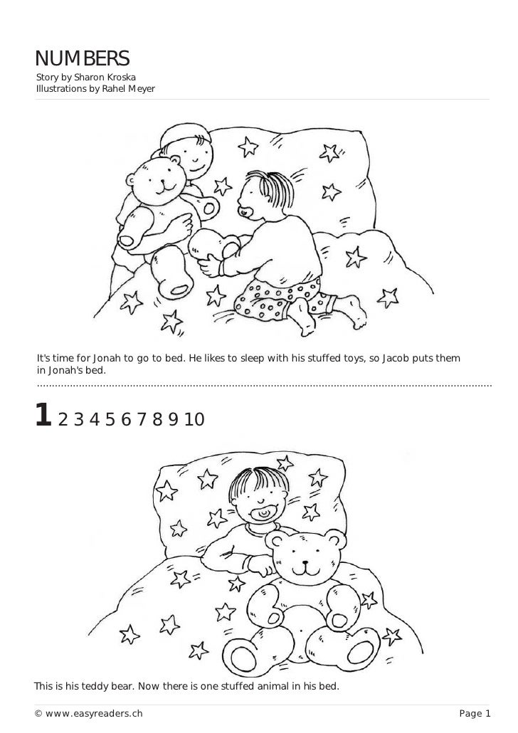 NUMBERS Story by Sharon Kroska Illustrations by Rahel Meyer     It's time for Jonah to go to bed. He likes to sleep with h...