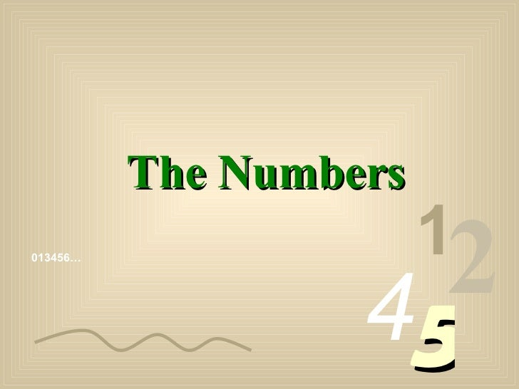 Numbers 0 9_