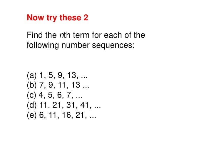 Counting Number worksheets : sequences worksheets ks3 Sequences ...