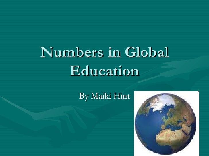 Numbers in global education