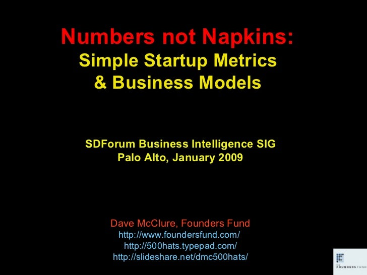 Numbers not Napkins: Simple Startup Metrics