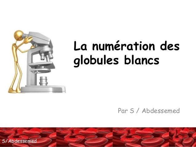 SS//AAbbddeessseemmeedd  La numération des  globules blancs  Par S / Abdessemed