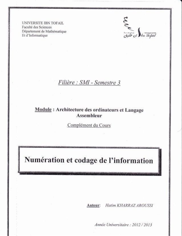 UNIVERSITE IBN TOFAIL Facult6 des Sciences Ddpartement de Mathdmatique Et d'Informatique *-f I F #.,lt,;'ii,;-ixi Filidre ...