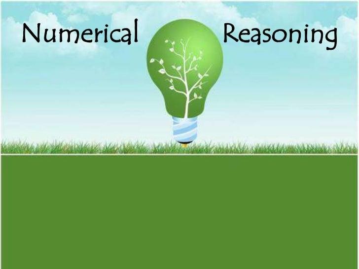 Numerical reasoning I