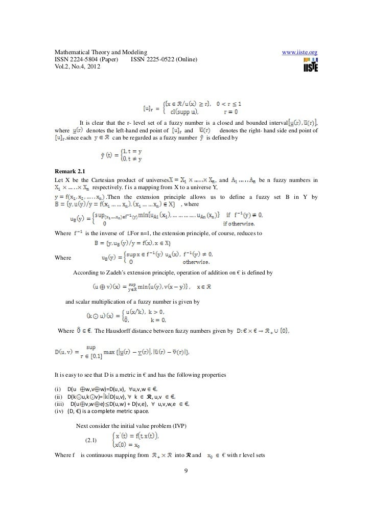 Hybrid Level Set That The r Level Set of a