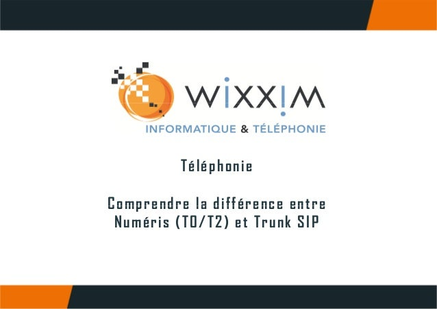 Comprendre la difference entre numeris t0 t2 et trunk sip - Difference entre pyrolyse et catalyse ...