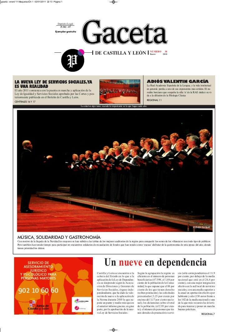 gaceta - enero11:MaquetaciÛn 1 02/01/2011 22:13 Página 1                                                      Depósito Leg...
