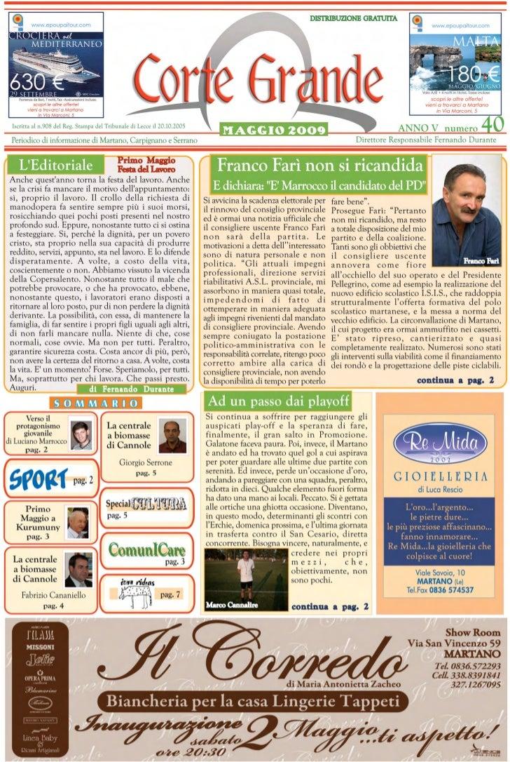 Corte Grande N° 40 - Maggio 2009