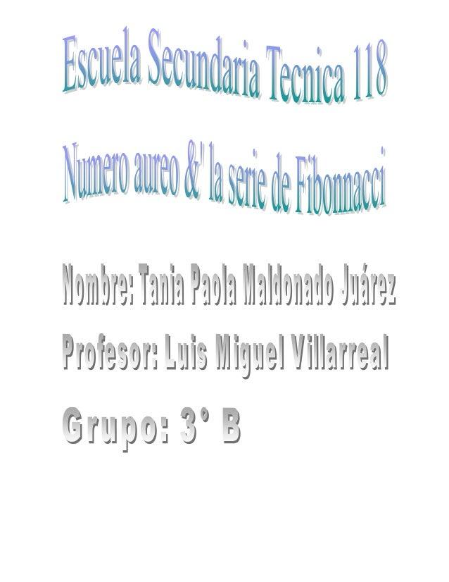 NUMERO AUREO &   SERIE DE FIBONACCIEs un numero que posee muchas propiedades interesantes & fuedescubierto en la antigüeda...