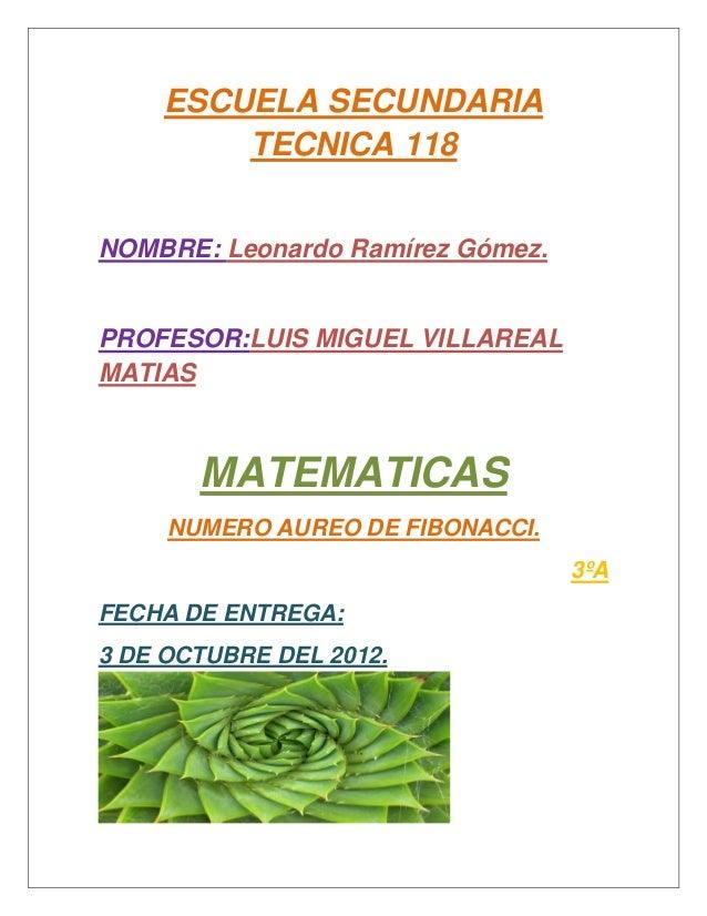 Numero aureo fibonacci.RAMIREZ GOMEZ