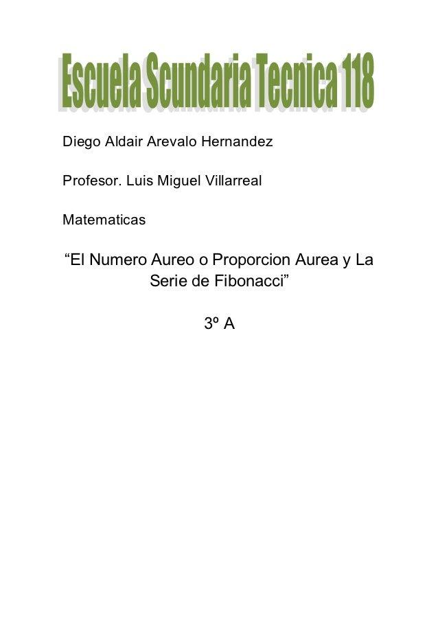 Numero aureo y serie fibonacci AREVALO