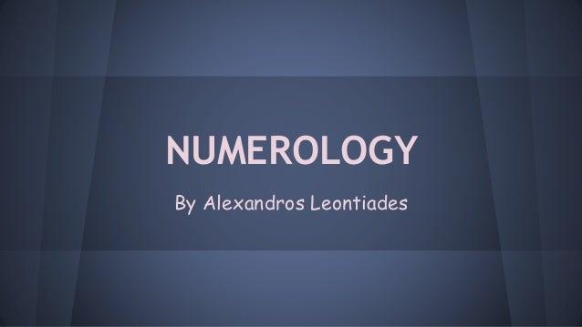 NUMEROLOGY By Alexandros Leontiades