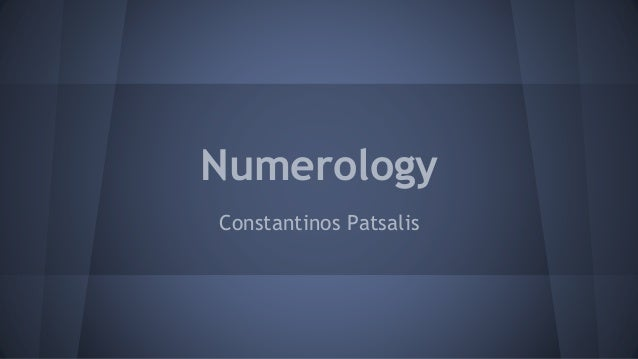 Numerology Constantinos Patsalis