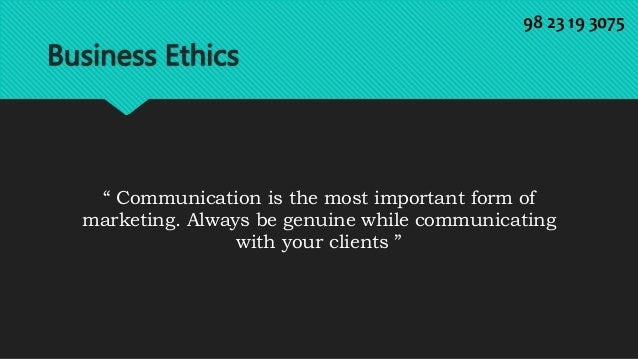 Business Ethics Quotes Business Ethics