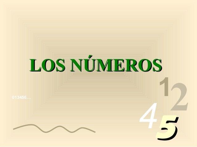013456… 1 2455 LOS NÚMEROSLOS NÚMEROS