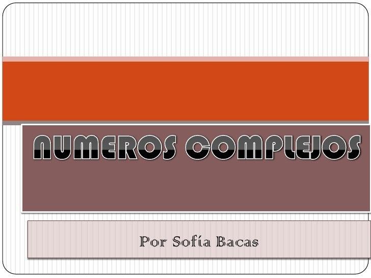 Por Sofía Bacas