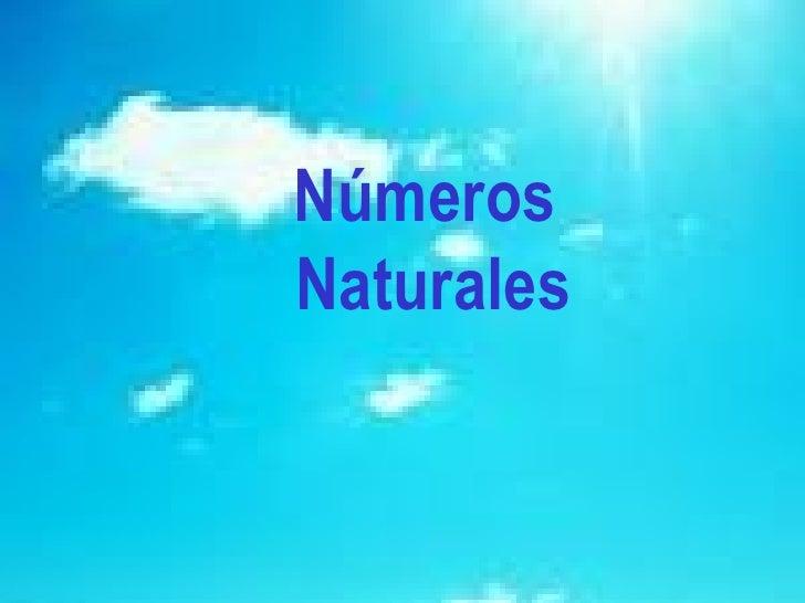 Números  Naturales
