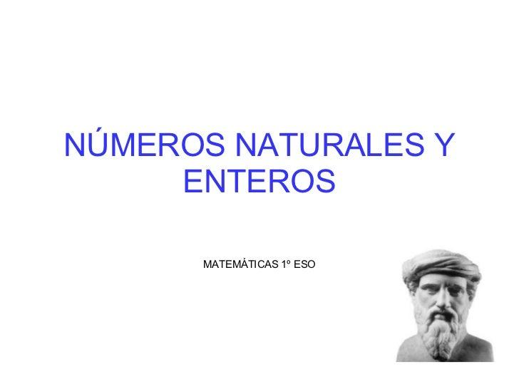 Numeros Naturales Y Enteros