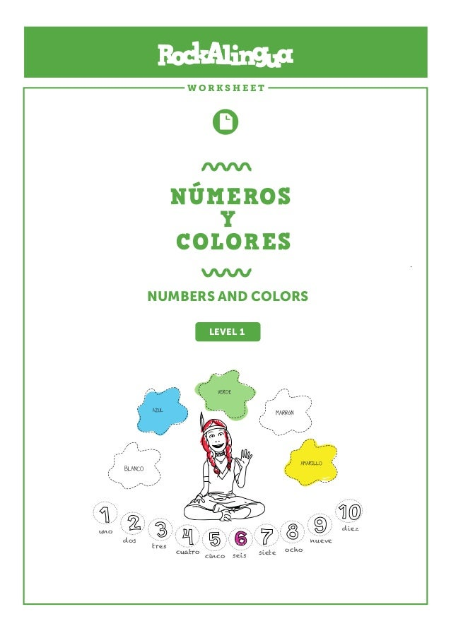 Numeros y colores rockalingua