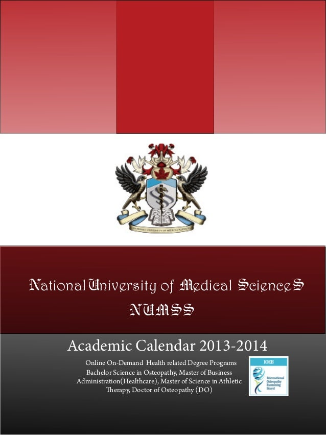 National University of Medical Sciences Academic Cal