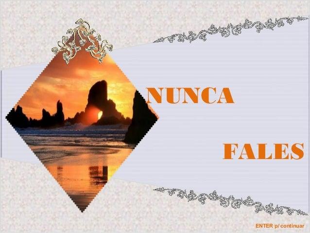 NUNCA FALES ENTER p/ continuar