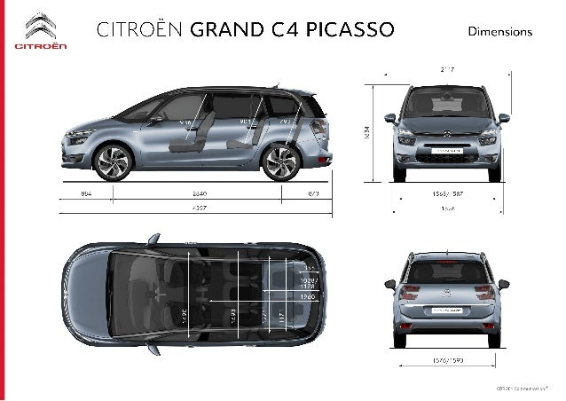 citroen grand c4 picasso scheda tecnica 2013. Black Bedroom Furniture Sets. Home Design Ideas