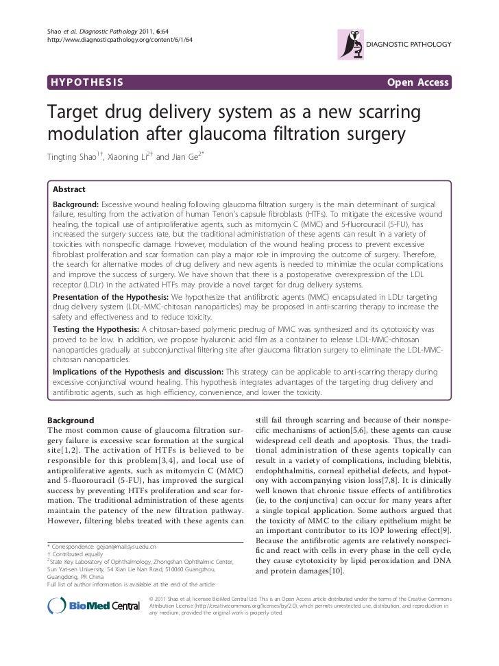 Shao et al. Diagnostic Pathology 2011, 6:64http://www.diagnosticpathology.org/content/6/1/64 HYPOTHESIS                   ...