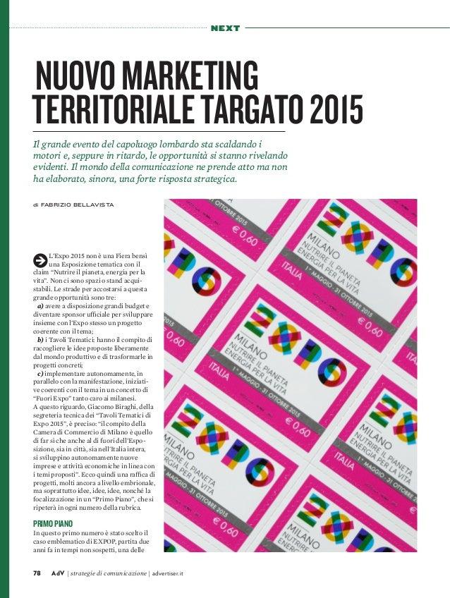 Nuovo marketing territoriale targato 2015