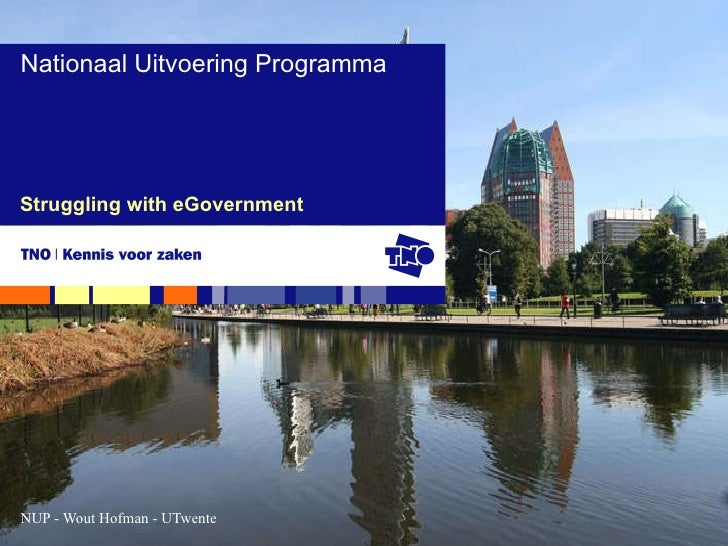 Struggling with eGovernment Nationaal Uitvoering Programma