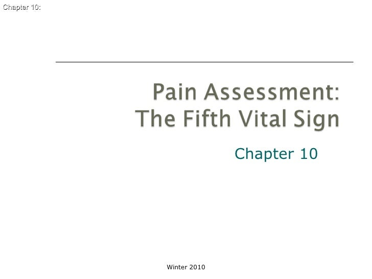 Nupd 400 chapter 10 pain