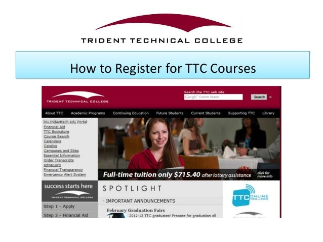 How to Register for TTC Courses