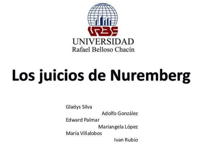 Gladys Silva  Adolfo González  Edward Palmar  Mariangela López  María Villalobos  Ivan Rubio
