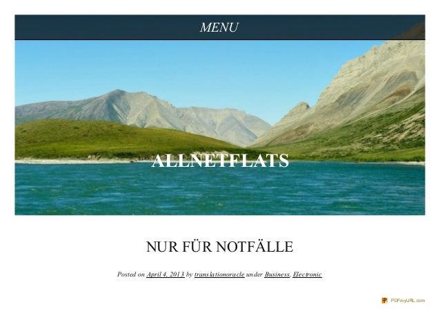 MENU           ALLNETFLATS          NUR FÜR NOTFÄLLEPosted on April 4, 2013 by translationoracle under Business, Electroni...