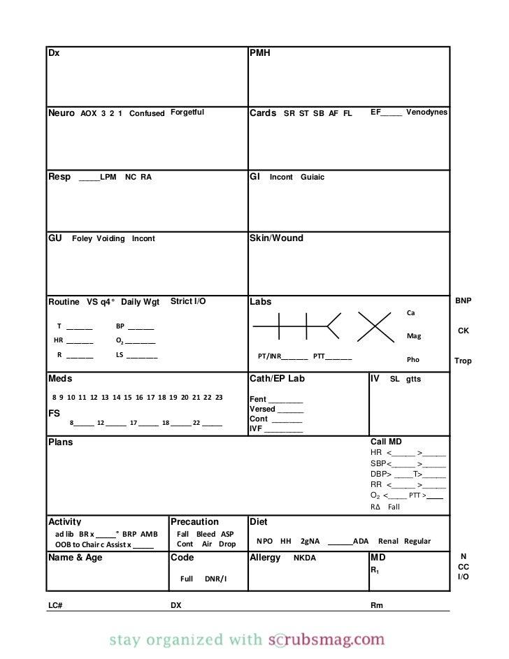 Nurse brain sheet_binder_insert_with_dividers