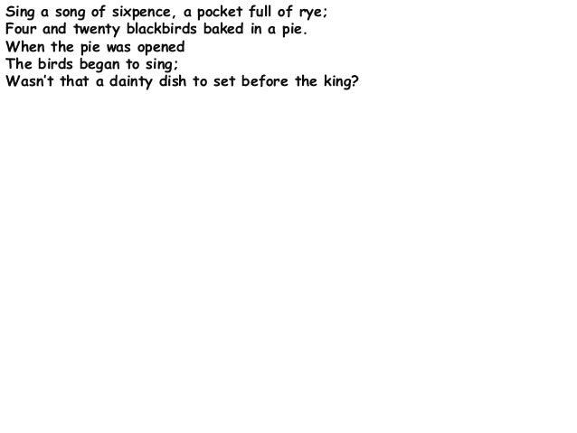 Nursery rhymes essay