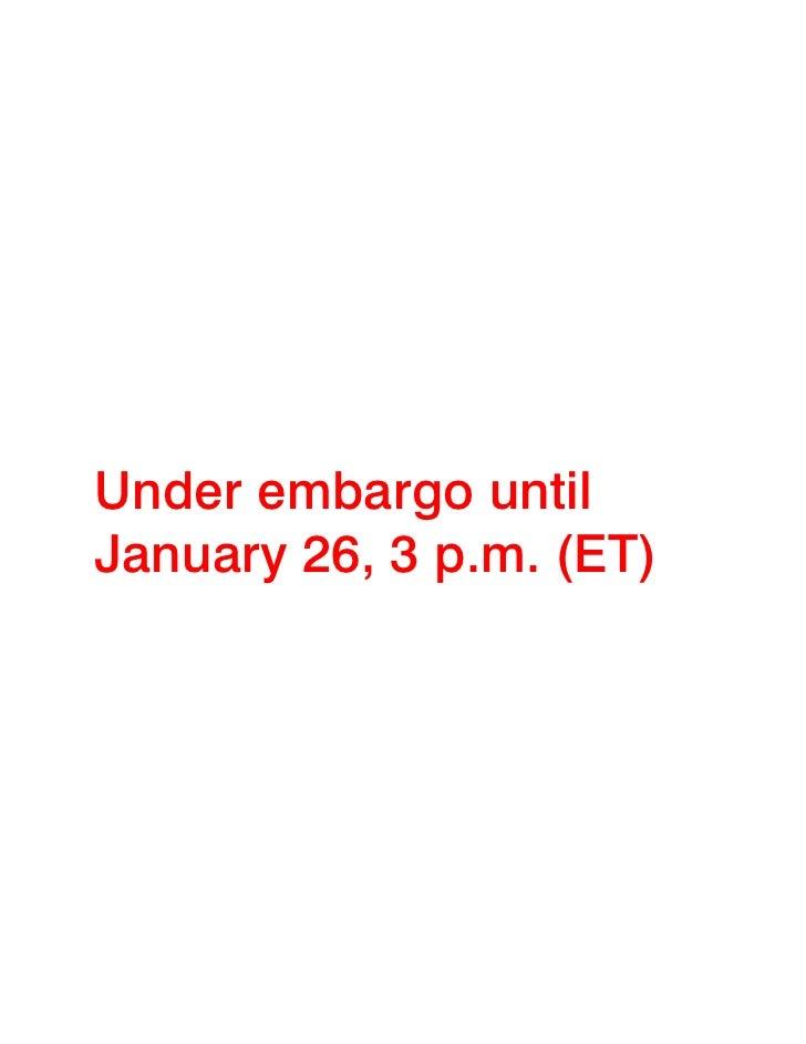 Under embargo untilJanuary 26, 3 p.m. (ET)