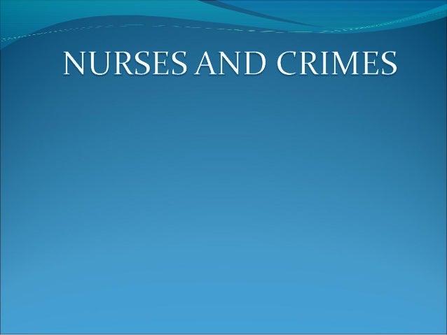 Nurses and crimes