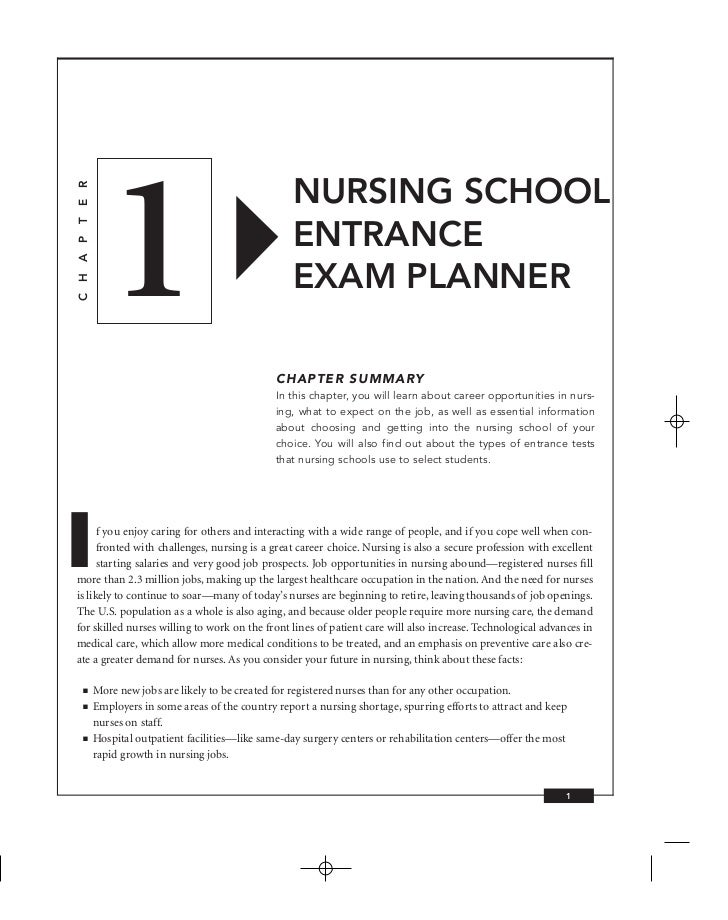 entrance essays for nursing school