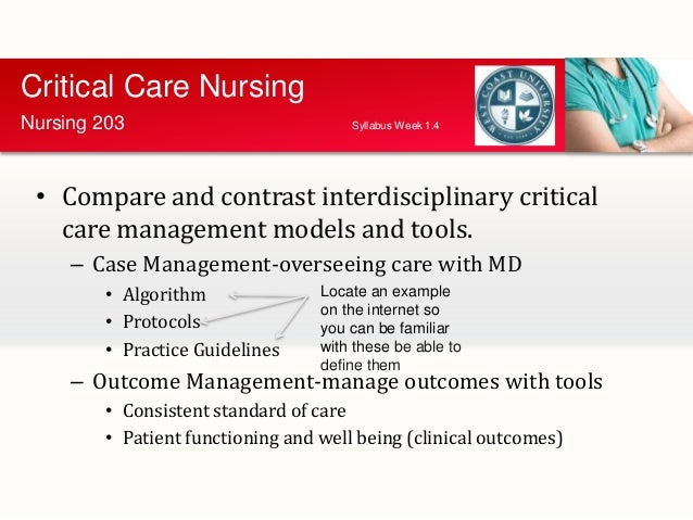 defining critical care nursing nursing essay Some of those specialties are cardiovascular nursing, community health nursing, critical care nursing, emergency nursing, gerontological nursing.