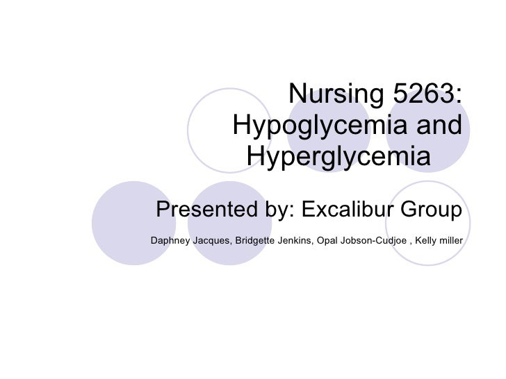 Nursing 5263 Hypoglycemia And Hyperglyemia[1]