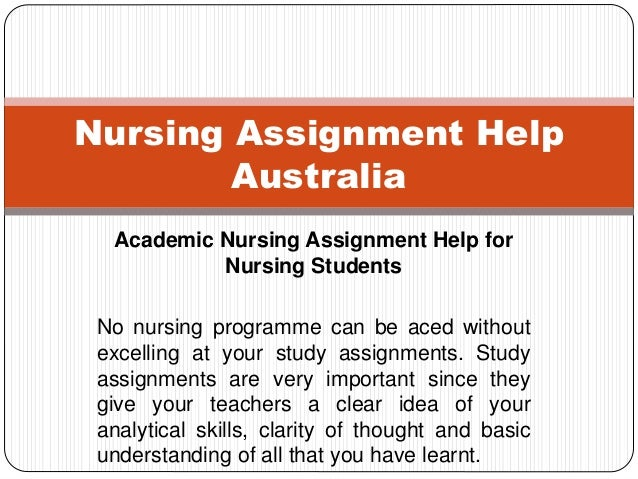 Assignment writing help for nursing